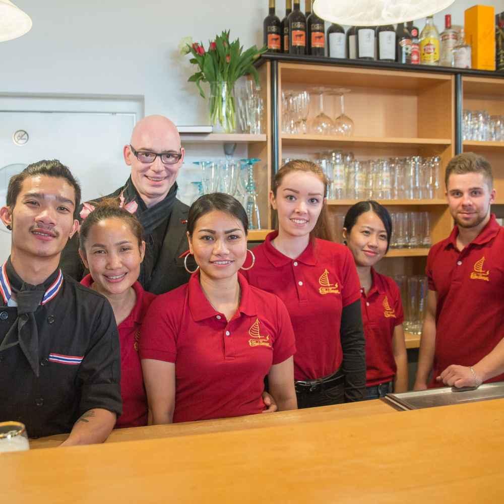 Das Team der Thai-Terrasse