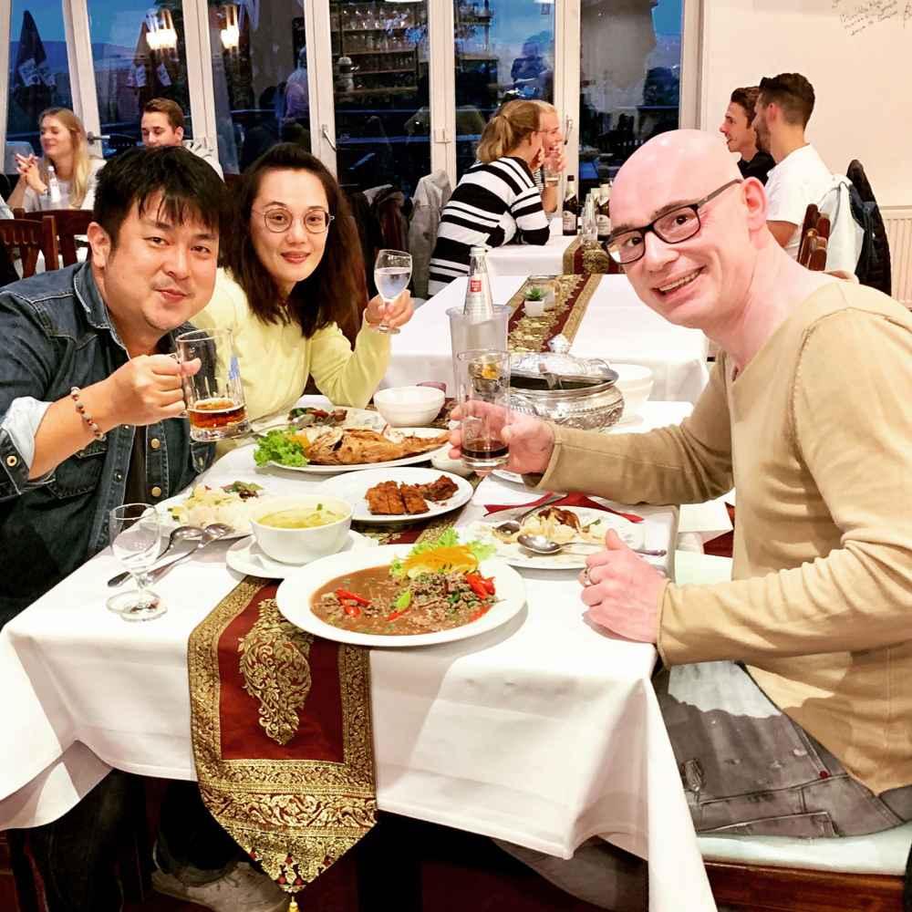 Thai-Terrasse: Kunden aus Taiwan