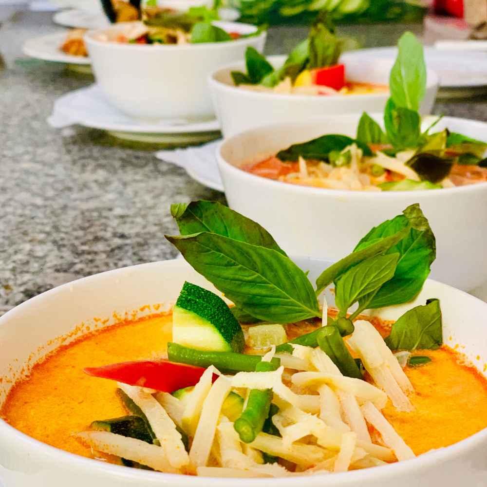 Rotes Curry frisch zubereitet