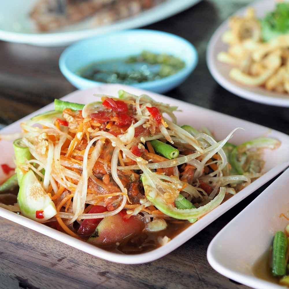 Som-Tam oder Papaya-Salat
